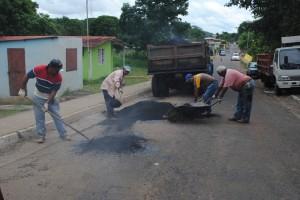 El plan de asfaltado sigue en el Casco Central de la ciudad de Upata
