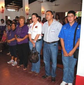 El alcalde de Gustavo Muñiz asistió a la misa en Honor a San Buenaventura de El Manteco.
