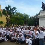 Zulny Bonalde de Muñiz junto a los niños y jóvenes en Ciudad Bolívar