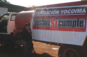 Camión Cisterna que fue entregada a los habitantes del Caserío Santa María