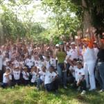 Primera Dama Zulny Bonalde y Nidia de Rangel con los niños del Plan Vacacional